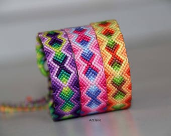 Friendship Bracelet in shades of different colors