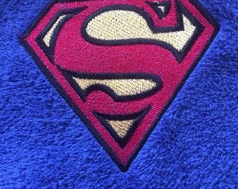 Set of two Superman bath towels