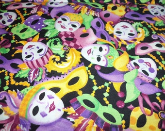 Mardi Gras Fabric Ready For The Celebration Colorful Fat Quarter New BTFQ