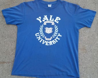 Vintage Yale University Hebrew Script shirt