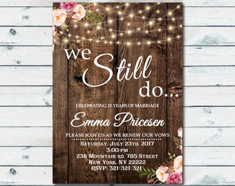 Invitation with rsvp etsy we still do invite vow renewal invitation wedding anniversary invitations wedding rsvp card wedding vow renewal stopboris Images