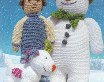 The Snowman, the Snowdog and Billy Crochet Pattern only Petra Yarn