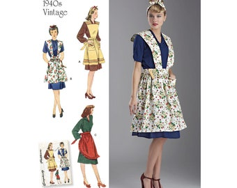 Simplicity Sewing Pattern 8669 Misses' Vintage Aprons