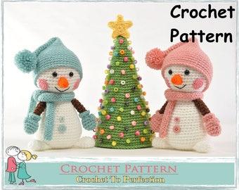 Amigurumi Pattern Snowman Christmas Tree Amigurumi Crochet Pattern New Year Amigurumi Crochet Amigurumi Pattern Christmas Crochet Pattern