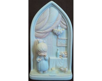 Precious Moments Second Beatitude Chapel Window Blessed Are They That Mourn Signed Ltd Ed G-Clef 1992 Vintage Chapel Exclusive 523380 NIB