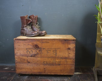 Antique Wales Goodyear Shoe Co (KEDS) Advertising Shipping Crate on Wheels