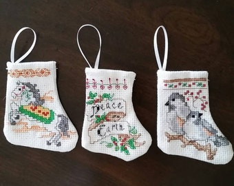 Mini Christmas Stockings Set of Three  ( Choice J )