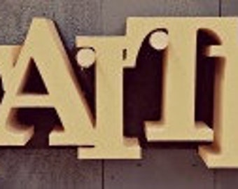 Exceptionnel Wooden Unfinished Letters Block (FAITH), Home Decor, Wall Hanging