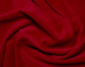 """Wine Red Premium 100% Cotton Velvet Fabric Material - 112cm (44"""") wide"""