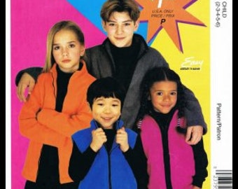 OUT of PRINT McCall's Pattern  M2871 Childrens Boys Girls Jacket & Vest