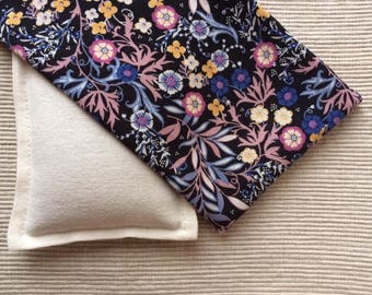 Pillow for eyes with flax seeds and flowers-aromatherapy-Yoga-lavender or chamomile or mint-Relax-eye pillow Nature-Organic