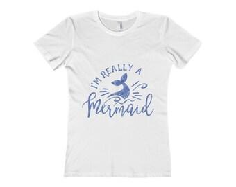 Mermaid Shirt, Mermaid, I'm Really A Mermaid Shirt, Im Really A Mermaid, Beach Shirt, Really A Mermaid, Mermaid TShirt, Mermaid T-Shirt