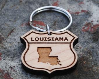 Louisiana State KEYCHAIN