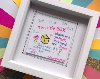 Framed Wall Art 'THE BOX'
