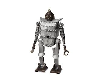 Bob the Robot Coin Bank/Sculpture, Sand cast Aluminum and Bronze