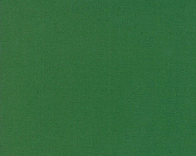 BELLA SOLIDS - Emerald Green - Solid Blender Cotton Quilt Fabric - from Moda Fabrics - 9900-268 (W4410)