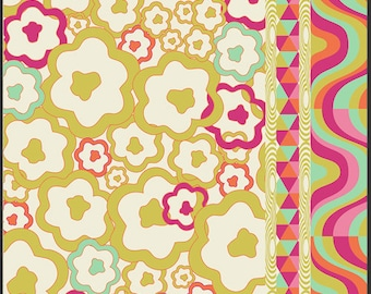 Art Gallery Fabrics - Carnaby Street Psychedelia Gold