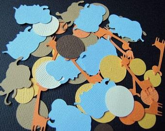 Safari Party Confetti, Jungle Party Confetti, Safari Birthday Party, Jungle Birthday Party, Safari Animal Confetti, Jungle Animal Confetti