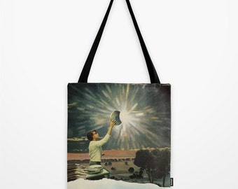 Tote Bag - surreal collage art for the dreamer - the fifth stage of sleep