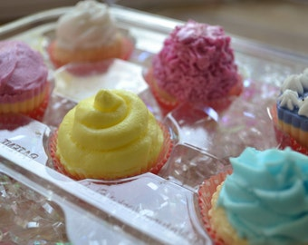 Mini Cupcake Soap Gift Set - Cupcake Soap - Holiday Gift - Food Soap - Bakery - Valentines Day - Party Favor - Dessert - Gift for her