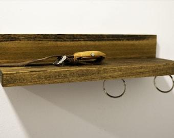 Magnetic Wooden Keychain Shelf