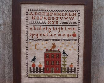 Autumn Sampler...Primitive PAPER Cross Stitch Pattern By The Humble Stitcher