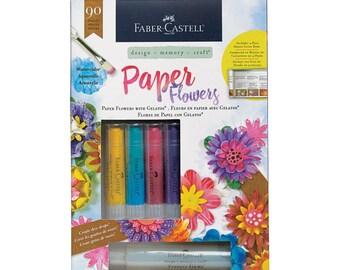 Faber-Castell, Paper Flowers design kit, 90 pieces