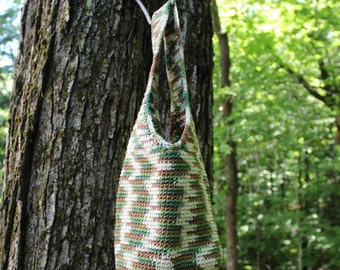 Small Crochet Hobo Bag, Farmer's Market Bag, Crochet Tote Bag, Eco-Friendly Bag