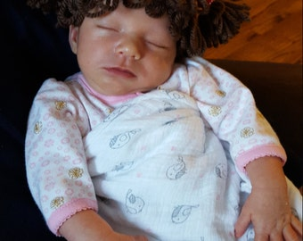 Newborn Cabbage Patch look alike hat wig