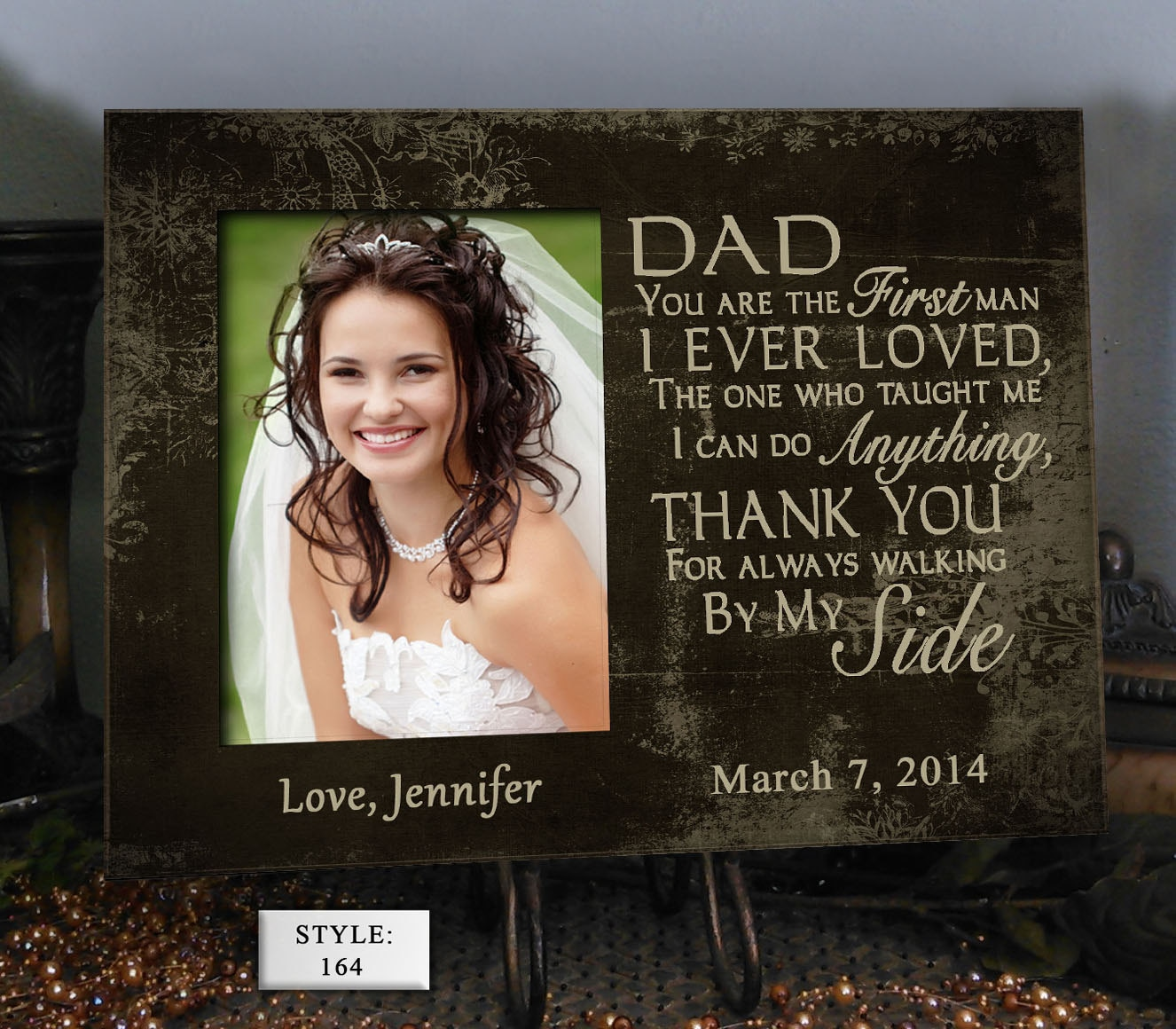 SIDE/DAD Father Of The Bride Gift Favorite Walk Bridal