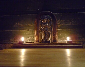 Hecate Goddess/ Bronze Metal/ Hekate Statue/ Hekate Altar/ Bronze Art/