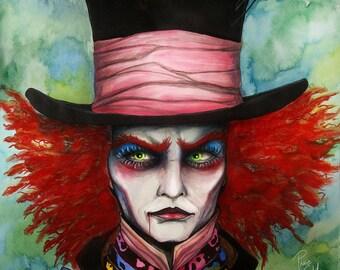 Mad Hatter- signed Art Print