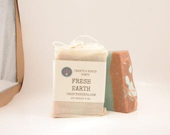Fresh Earth Cold Process Soap, Artisan Cold Process Soap, Handmade Bar Soap, Vegan Soap, Scented Soap, Women Soap, Gift Soap For Him
