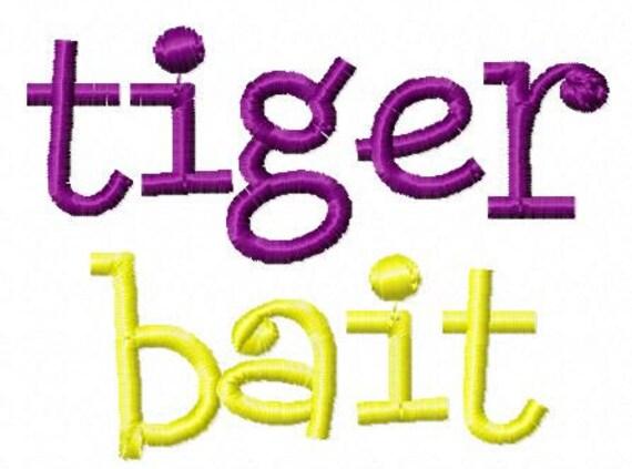 Tiger Bait Machine Embroidery Design
