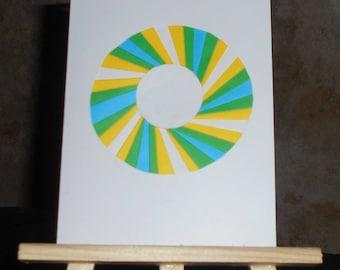 Sun in iris folding card