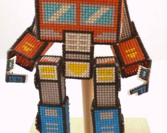 3D Transforming Robot Cross Stitch Pattern