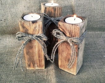 Branch Candle Holder(1) - Rustic style, Candle Holder, Tree Slice, Wooden Candle Holders,