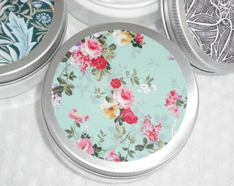 Lotion / Hand & Body / YOUR CHOICE of Scent / 2 oz / Floral Decor Metal Lid Containers