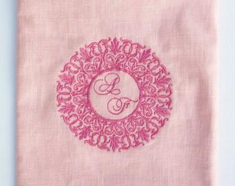 Personalized Embroidered Tallit bag Talis bag Talit Bag Jewish Prayer Shawl Bag matching Bat Mitzva Gift Pink tallit Bag Woman tallit Bag