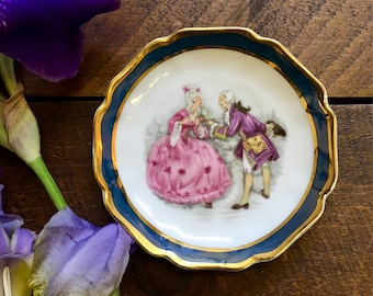 Limoges - Miniature Plate - Pin Dish - French Collectables - Vintage Home