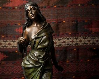 """Emmanuel Villanis """"Prise de Corsaire"""" multi-color patinated bronze sculpture"""