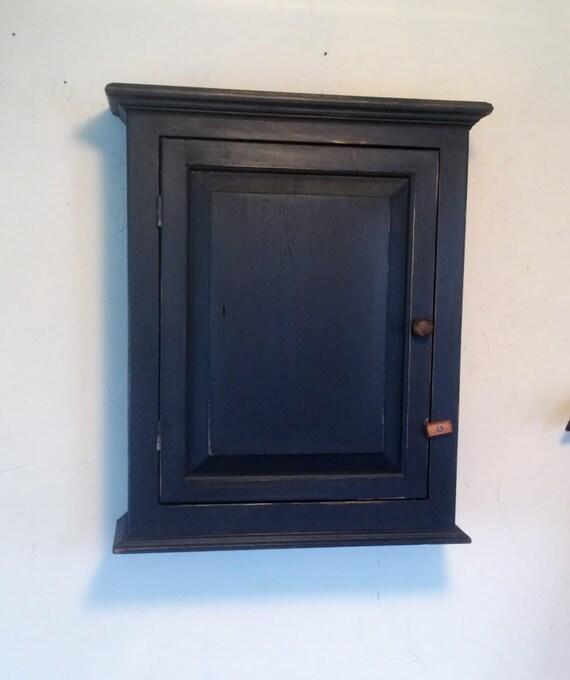 White Pine Cabinets: Distressed Farmhouse Primitive White Pine Cabinet Black Chalk