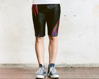 Men Cycling Shorts . 90s Summer Shorts Vintage Beach Shorts Board Shorts Vacation Shorts Pants Swim Trunks Holiday Short . size Medium