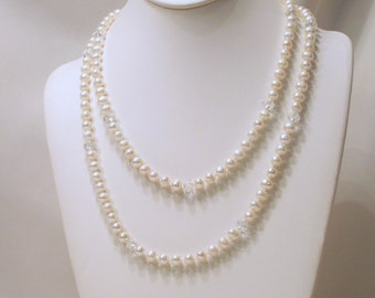 A Touch of Crystal Freshwater Pearl Necklace