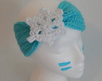 SALE Princess Elsa Inspired Crochet Headband