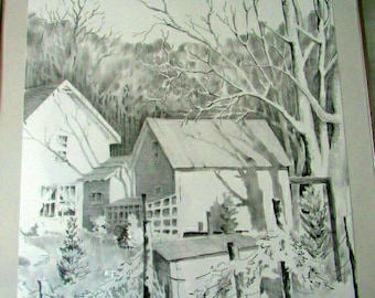 Vintage Litho by North Carolina Artist Jo Shipley Limited Edition  Shadows  2752