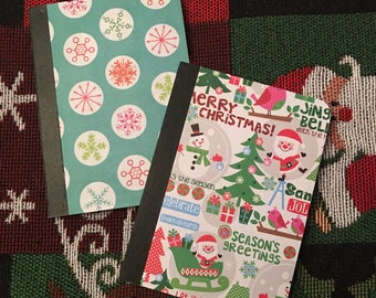 Christmas Mini Notebooks - Set of 2 - Elf gifts - Childrens Christmas Stocking Stuffers