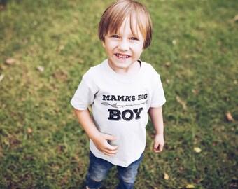 Mama's big boy, Mama's big boy shirt, Birthday shirt boy, Birthday gift boy, Gift for boy, Mamas big boy shirt, Kid shirt