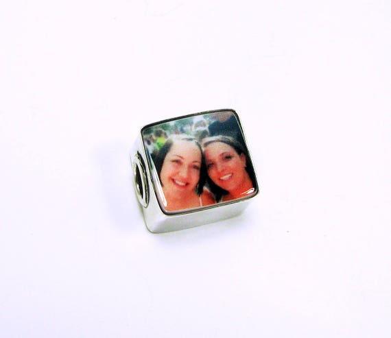 Photo Charm for a Pandora Style Charm Bracelet