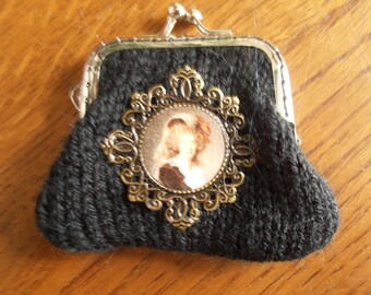 door wallet black deco Marie-Antoinette (2)